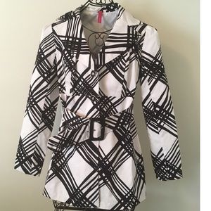 Heart Soul black and white trench coat